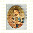 CROWN VIRGIN MARY BABY JESUS MADONNA CHILD PORCELAIN CAMEO 8-5
