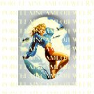 40'S 50'S PINUP PIN UP SEXY  BLONDE MILITARY AIRPLANE PORCELAIN CAMEO CAB