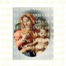 CATHOLIC VIRGIN MARY JESUS MADONNA CHILD PORCELAIN CAMEO CAB 9-6