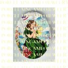 GREEN ANGEL WITH DOVE  * UNSET PORCELAIN CAMEO CAB