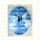BLUE ANGEL UNSET PORCELAIN CAMEO CAB 30X40MM