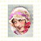ART DECO FLAPPER LADY ROSE UNSET PORCELAIN CAMEO CAB