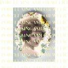 ART DECO VINTAGE FLAPPER LADY * UNSET PORCELAIN CAMEO CAB 39-17