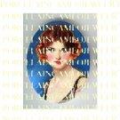 ART DECO VINTAGE FLAPPER LADY * UNSET PORCELAIN CAMEO CAB 39-20