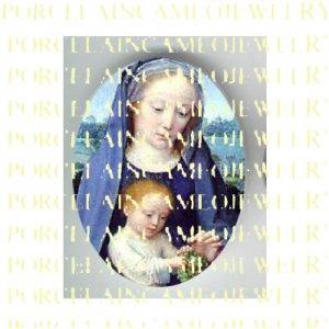 CATHOLIC VIRGIN MARY JESUS MADONNA CHILD PORCELAIN CAMEO CAB 11-3