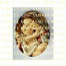CATHOLIC VIRGIN MARY JESUS MADONNA CHILD PORCELAIN CAMEO CAB 11-8