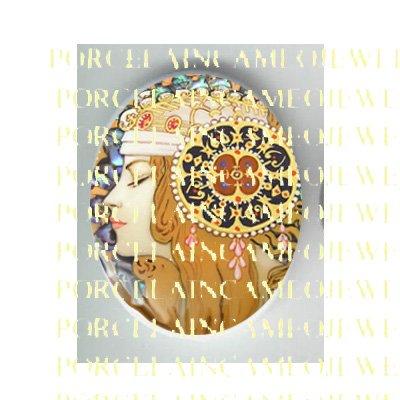 ALPHONSE MUCHA ART NOUVEAU DECO LADY PORCELAIN CAMEO CAB 58-7
