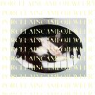 BLACK WHITE KITTY CAT ON PIANO* UNSET PORCELAIN CAMEO CABOCHON