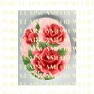 VICTORIAN VINTAGE FRENCH RED ROSE PORCELAIN CAMEO CAB