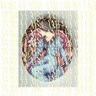 ART NOUVEAU ALPHONSE MUCHALADY WITH LILY UNSET PORCELAIN CAMEO CAB