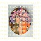 ART NOUVEAU ALPHONSE MUCHA  FLOWER LADY PORCELAIN CAMEO CAB