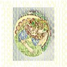 ART NOUVEAU ALPHONSE MUCHA GREEN IVY LADY PORCELAIN CAMEO CAB