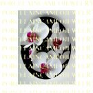 3  WHITE ORCHID FLOWER* UNSET PORCELAIN CAMEO CAB