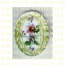 VICTORIAN VINTAGE 2  PINK PURPLE VIOLET FLOWER* UNSET PORCELAIN CAMEO CAB