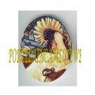 ART NOUVEAU ALPHONSE MUCHA  SUNFLOWER LADY PORCELAIN CAMEO CAB 61-23