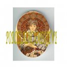 ART NOUVEAU ALPHONSE MUCHA DAISY FLOWER LADY PORCELAIN CAMEO CAB 61-17