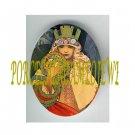 ART NOUVEAU ALPHONSE MUCHA  LADY PORCELAIN CAMEO CAB 61-13