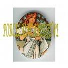 ART NOUVEAU ALPHONSE MUCHA  LADY PORCELAIN CAMEO CAB 61-12