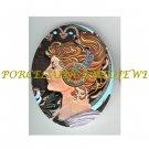 ART NOUVEAU ALPHONSE MUCHA  LADY PORCELAIN CAMEO CAB 61-11