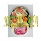 ART NOUVEAU ALPHONSE MUCHA  ROSE LADY PORCELAIN CAMEO CAB 61-10