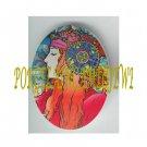 ART NOUVEAU ALPHONSE MUCHA  LADY PORCELAIN CAMEO CAB 61-9