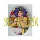 ART NOUVEAU ALPHONSE MUCHA  FLOWER LADY PORCELAIN CAMEO CAB 61-5