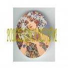 ART NOUVEAU ALPHONSE MUCHA  LILY FLOWER LADY PORCELAIN CAMEO CAB 61-2