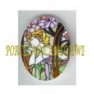 ART NOUVEAU ALPHONSE MUCHA FLOWER LADY PORCELAIN CAMEO CAB 61-26