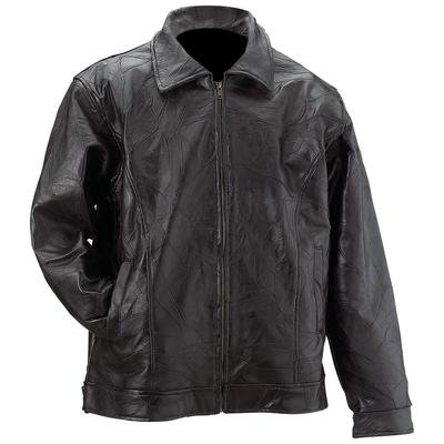 Giovanni Navarre® Italian Stone� Design Genuine Leather Men's Eagle Jacket