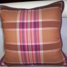 Custom Handmade Pillow Plaid Silk by Veronica Mandolini 79