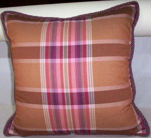 Custom Handmade Pillow Plaid Silk by Veronica Mandolini 79