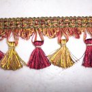 11805 Tassel Fringe, Red Green Gold- Riches-18.95-FS