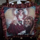 Angel, Lion, Lamb Handmade Pillow by Veronica Mandolini 125.-FS