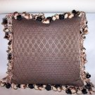 Custom Handmade Pillow Black Taupe Diamond by Veronica Mandolini 65.-FS
