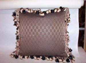 Custom Handmade Pillow Black Taupe Diamond by Veronica Mandolini 65.-FS