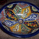 Hand Painted Ceramic Glazed Sink Blue