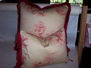 Custom Handmade Pillows Toile Set by Veronica Mandolini 94.00-FS