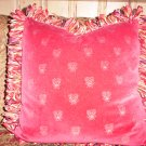 Red Velvet Bee Handmade Pillow by Veronica Mandolini 86.00-FS