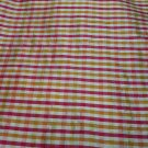 Silk Fabric, Plaid, CK206, Red, Gold, Ivory, Green -27.95per yd-FS