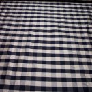 Silk Black & Off White Check Plaid 28.95per yd-FS