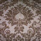 Chenille Leaf Medallion Taupe Fabric,  20.95