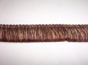 "Brush Fringe, Brown 1 3/4"", 22028-P99, 12.95per yd"