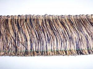 """3"""" Brush Fringe, Black, Gold, 11692-N18- 16.99"""