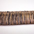 "1 3/4"" Brush Fringe Black, Gold, Beige  12.95per yd-FS"