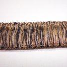 "1 3/4"" Brush Fringe Black, Gold, Beige  12.95per yd-FS"