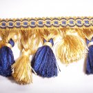 Tassel Fringe Alternating, Staggered Blue, Yellow  23.95per yd-FS