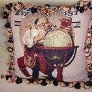Norman Rockwell Handmade Tapestry Velvet Pillow 94.00