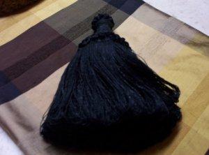 Swag Tassel 8inch 11813 R01 Black   30.00