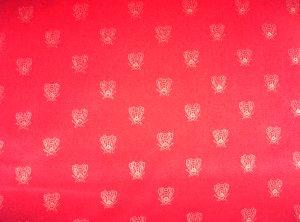 Red Velvet Bee Fabric- 36.95per yard