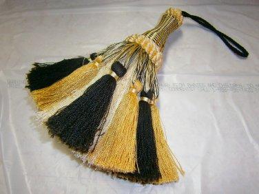Tassel Black, Cream, Ivory 8 inch 45.00